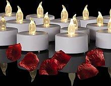 Batteriebetriebene LED-Teelichter: 24 flammenlose