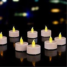 Batteriebetriebene Teelichter Kerzen: 24