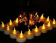 Batteriebetriebene Teelichter Kerzen: 50 Stück,