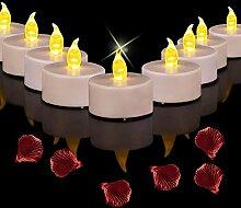 Batteriebetriebene Teelichter Kerzen: 50 Stück