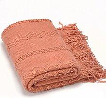 battilo aufwendige gewebte Überwurf Decke mit