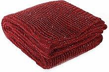 battilo Knit Überwurf Decke für Couch Stühle