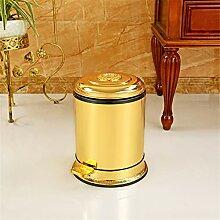 Battitachil Wohnzimmer Mülleimer Bad Küche Gold