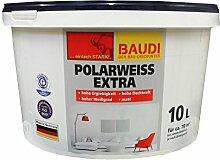 BAUDI Polarweiss Wandfarbe 10 Liter