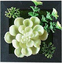 Bauernhaus Art Künstliche Pflanze Ornamente Zimmer Wanddekoration, hellgrün