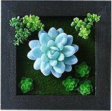 Bauernhaus Art Künstliche Pflanze Ornamente Zimmer Wanddekoration, blau