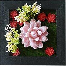 Bauernhaus Stil Künstliche Pflanze Ornamente Zimmer Wanddekoration, rot Sukkulenten