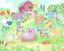 Bauernhof Baby Fototapete Kindertapete