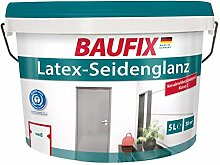 BAUFIX  Latex-Seidenglanz Wandfarbe Weiß