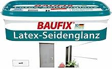 Baufix Wandfarbe Latex Seidenglanz Weiß 5 Liter