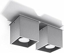Bauhaus Deckenleuchte (B10cm, L26cm, 2-flmg,
