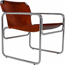 Bauhaus Sessel aus Stahlrohr & Sattelleder, 1960er