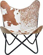 Bauhauschairs Butterfly Chair Kuhfell braun