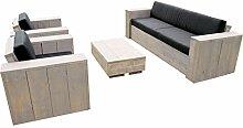 Bauholz Möbel Gartenmöbel Garnitur Lounge Set