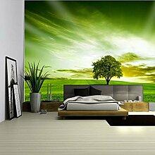Baum-Grün-großes Wand-Fernsehhintergrund-Tapete-Schlafzimmer-Gaststätte-3D Tapeten-Wand 200Cmx150Cm