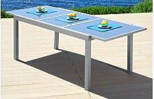baumarkt direkt Gartentisch Amalfi, Aluminium, ausziehbar 100 cm, 180/240 cm, hellgrau