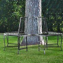 Baumbank aus Eisen Lily Manor