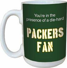 Baumfreie Grüße 15Oz Keramik Packers Fußball