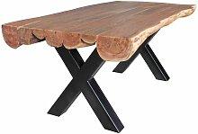 Baumkanten Esstisch aus Akazie Massivholz