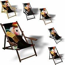 Baumschmuck Weihnachtsmann - Liegestuhl bedruckt