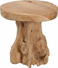 Baumstamm Hocker ROOT Teak Hocker massives