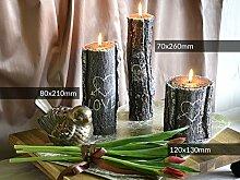 BAUMSTAMM LOVE Deko Kerzen, Valentingstagkerzen, Kerzen, Geschenkidee