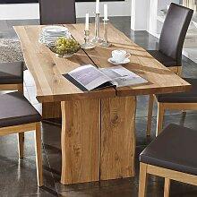 Baumtisch aus Wildeiche massiv geölt