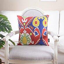 Baumwoll-leinen kissen kissen hülle sofa