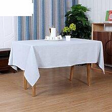 Baumwoll-leinen-tisch mit rechteckigen