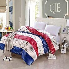 Baumwoll-quilt cover one-piece quilt cover bett lining nicht verblassen-H 220x240cm(87x94inch)