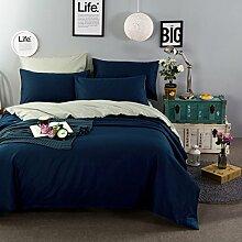 Baumwoll-Twill Volltonfarbe Einfache Und Elegante Bettwäsche Quilt,Poblueash-尺寸2