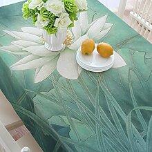 Baumwoll- und Bettwäsche Restaurant Tischdecken, Lotus Tischdecken, Hotelcafés Kaffeetisch, Wohnzimmer Tischdecken , #1 , 140*220cm