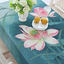 Baumwoll- und Bettwäsche Restaurant Tischdecken, Lotus Tischdecken, Hotelcafés Kaffeetisch, Wohnzimmer Tischdecken , #2 , 100*140cm