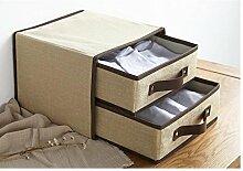 Baumwoll - und Leinen - Non - Woven - Aufbewahrungsbox 2 - Tier - Schubladen - Unterwäsche - Stoffaufbewahrungsbox , #2