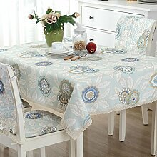 Baumwoll- und Leinen-Tischdecken, Tuch Tischdecken, Couchtisch Tuch, rechteckige Tischdecken , #3 , 90*140cm