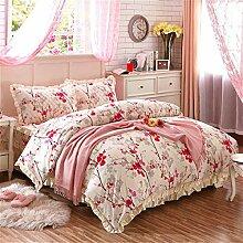 Baumwollbettrock Eine Vierköpfige Familie Mehrfarbig Multi-size,H-180*200cm