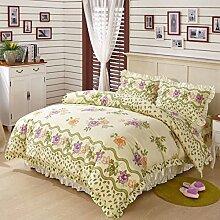 Baumwollbettrock Eine Vierköpfige Familie Mehrfarbig Multi-size,Q-180*200cm
