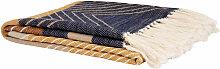 Baumwolldecke mit Fransen, mehrfarbig 140x180