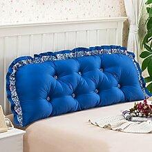 Baumwolle Bett Kissen Bett Sofa Große Rückenlehne Lange Kissen Kissen Soft Tasche ( Farbe : E , größe : 150*55cm )