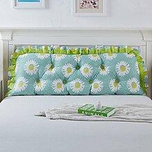 Baumwolle Bett Kissen Bett Sofa Große Rückenlehne Lange Kissen Kissen Soft Tasche ( Farbe : D , größe : 180*55cm )