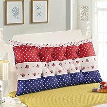 Baumwolle Bett zur Erhöhung der Höhe des großen zurück doppelte lange Kissen Baumwolle Matratze Kissen weiche Bett Rückenlehne abnehmbar ( Farbe : 2# , größe : 1.5m )