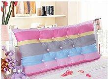 Baumwolle Bett zur Erhöhung der Höhe des großen zurück doppelte lange Kissen Baumwolle Matratze Kissen weiche Bett Rückenlehne abnehmbar ( Farbe : 5# , größe : 1.5m )