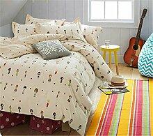 Baumwolle Cartoon Bettwäsche Set / Kinder und Erwachsene / Bettdecke , F