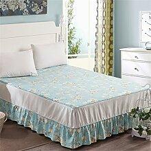 Baumwolle Einzelbett skirt europäischen Stil Bett Bettdecken Bettdecke (3 Stück) ( farbe : # 6 , größe : 200x220cm )