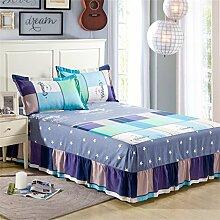Baumwolle Einzelbett skirt europäischen Stil Bett Bettdecken Bettdecke (3 Stück) ( farbe : # 2 , größe : 200x220cm )