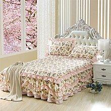 Baumwolle Europäische Stil Bett Rock Bettdecke Einzelbett Bettdecke Bett Bettdecke ( größe : 150*200cm )