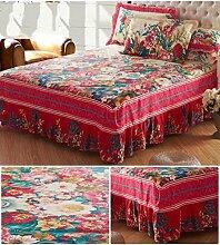 Baumwolle Europäische Stil Bett Rock Bettdecke Einzelbett Bettdecke Bettdecke Einzelbett Doppelbett Bettwäsche ( farbe : # 3 , größe : 180*200cm )