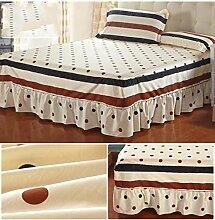 Baumwolle Europäische Stil Bett Rock Bettdecke Einzelbett Bettdecke Bett Bettdecke ( größe : 120*200cm )