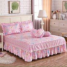 Baumwolle Europäische Stil Ländlichen Bett Rock einzigen Prinzessin Bett Bettwäsche Bett Covers Bettdecke Kissenbezug ( farbe : # 2 , größe : 180x200cm )