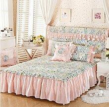 Baumwolle European Style Bed Rock Bettdecke Single Plus Baumwollbett Covers Verdickung Bett Cover 2 Stück Kissenbezug ( farbe : # 5 , größe : 180*200cm )